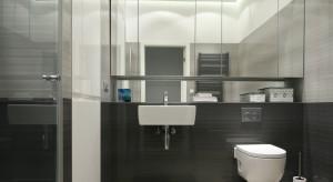 Łazienka w szarościach – pomysł na małe wnętrze