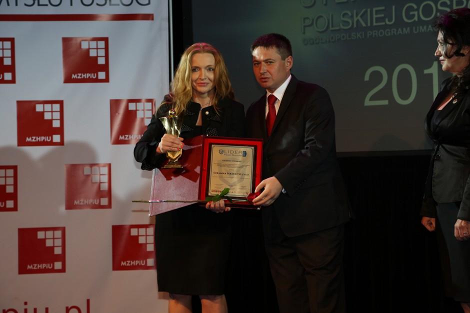 Ceramika Paradyż z nagrodą Lider Polskiej Gospodarki
