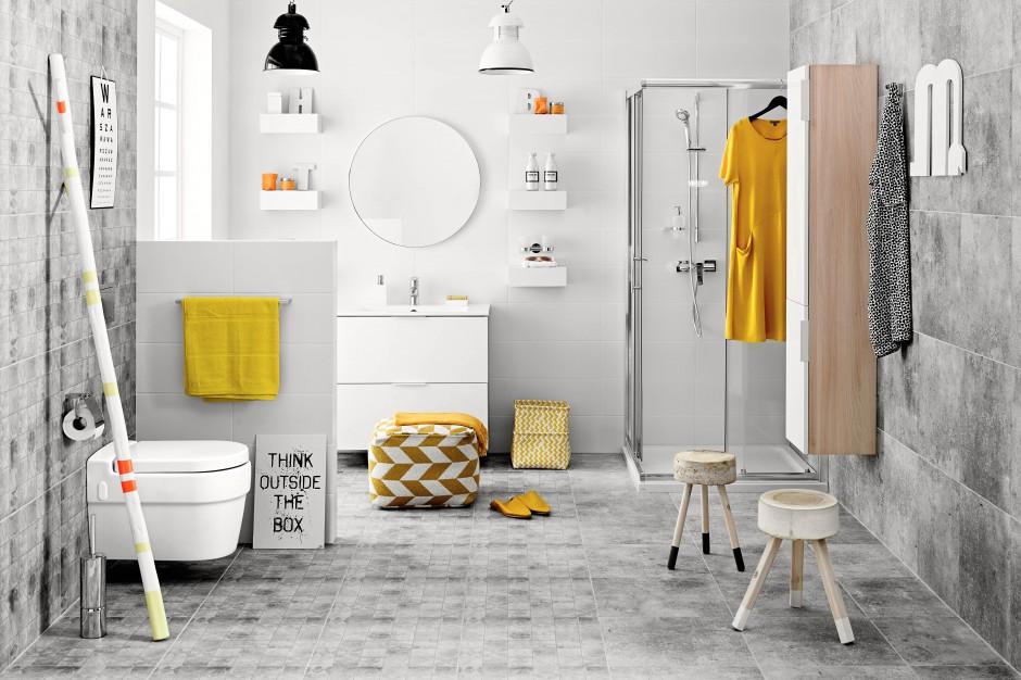 Tag żółta łazienka łazienkapl