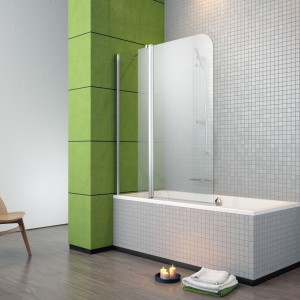 Mała łazienka: dopasuj parawan nawannowy