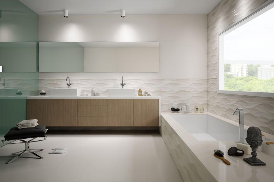 Białe płytki – 12 kolekcji idealnych do łazienki