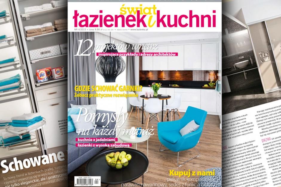 Świat Łazienek i Kuchni – nowy numer 4-2015 już w sprzedaży!