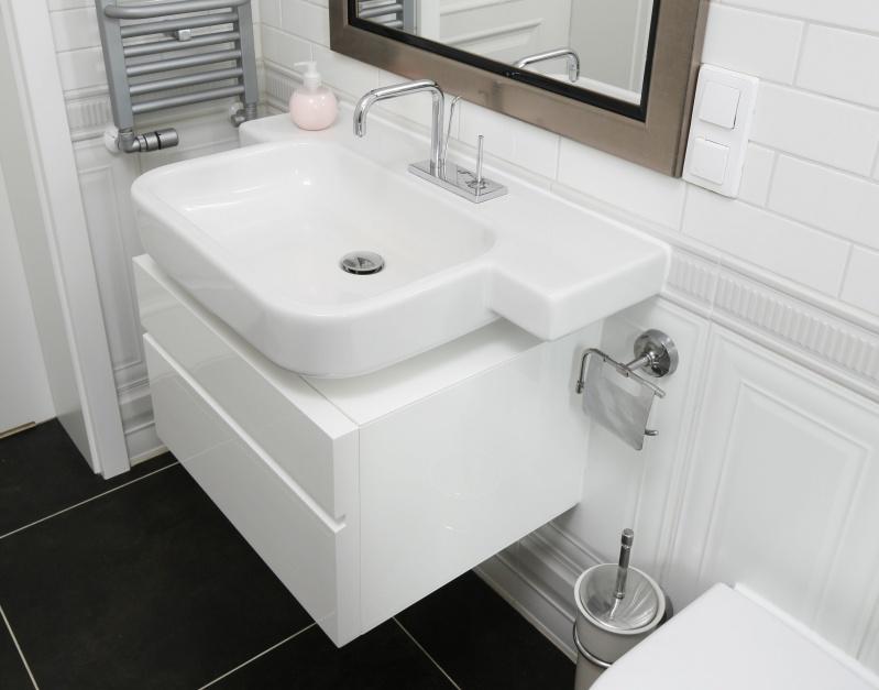 Mała i wąska łazienka – gotowy projekt na 5 metrów