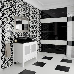 Czarno-białe płytki: 12 najpiękniejszych serii do łazienki