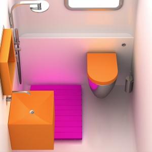 Pomarańczowe łazienki – zobacz jak modnie łączyć kolory