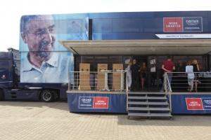 Ciężarówka Grohe przyjechała do Warszawy