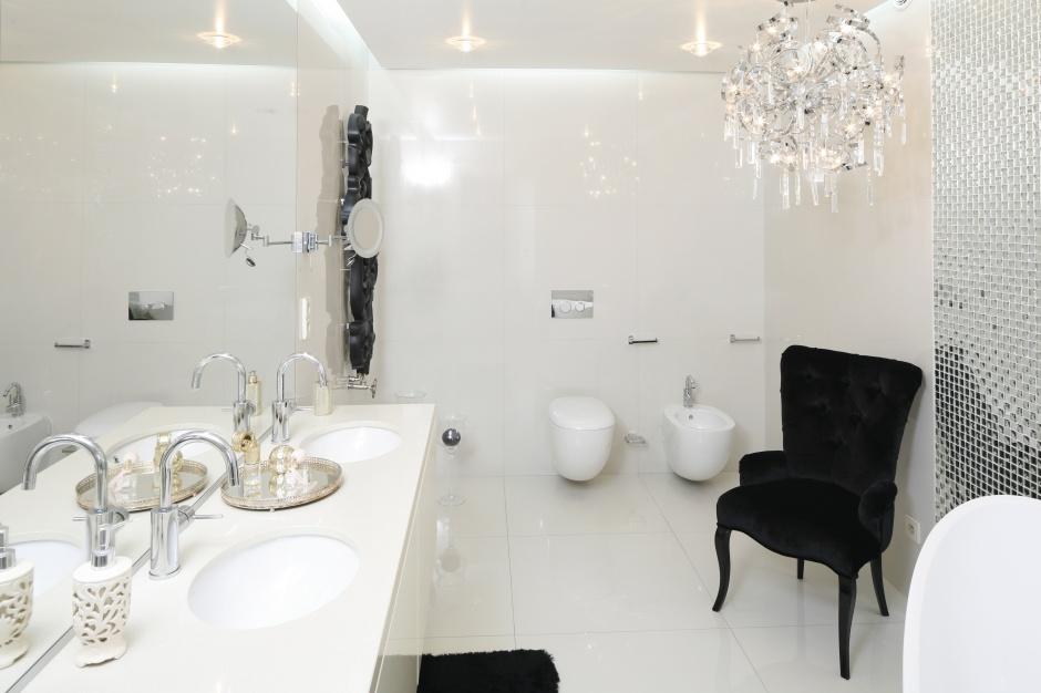 Inspirujemy łazienki W Stylu Glamour 12 Pięknych Wnętrz
