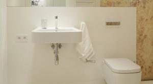 Mała łazienka – gotowy projekt z pomysłową pralnią