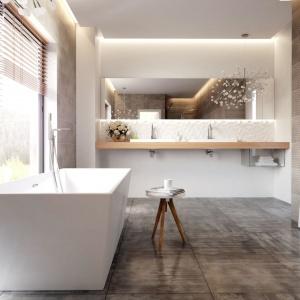 Biała łazienka modnie urządzona