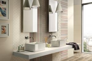Beżowe płytki – 12 eleganckich kolekcji do łazienki