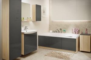 Szare meble do łazienki – 12 modnych zestawów
