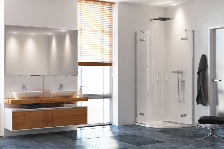 Najpopularniejsze półokrągłe kabiny prysznicowe