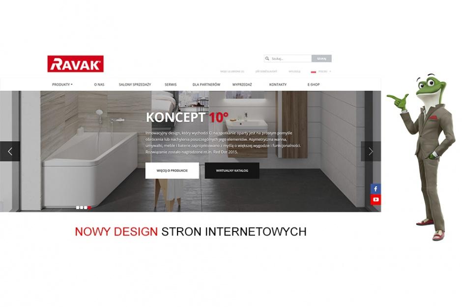 Ravak prezentuje nową stronę internetową