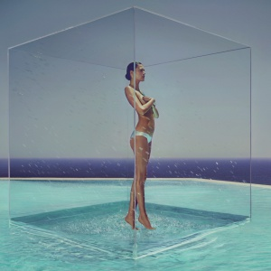 Kąpiel na Ibizie - zobacz sesję zdjęciową do kalendarza Hansgrohe