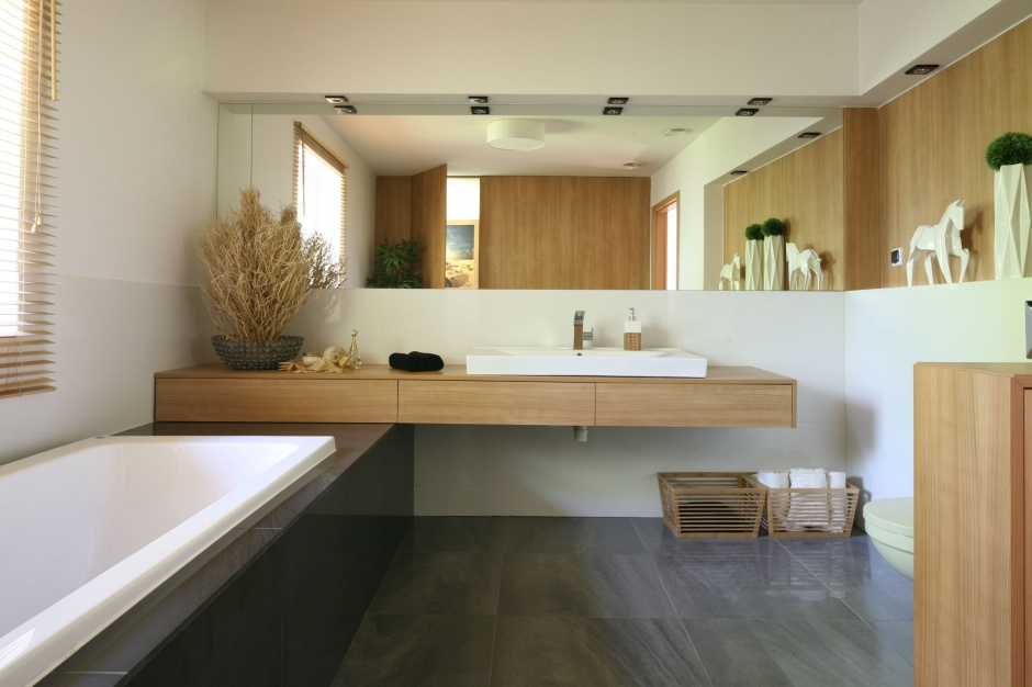 Radzimy łazienka W Jasnym Drewnie Najmodniejsze