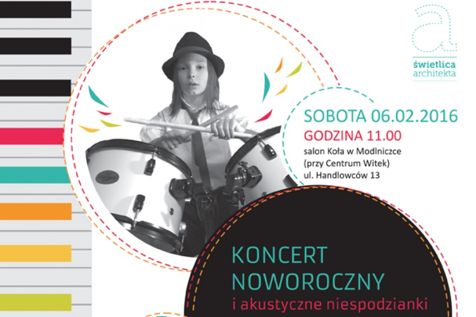Dzieci i dorośli są zaproszeni na koncert noworoczny w salonie Koło