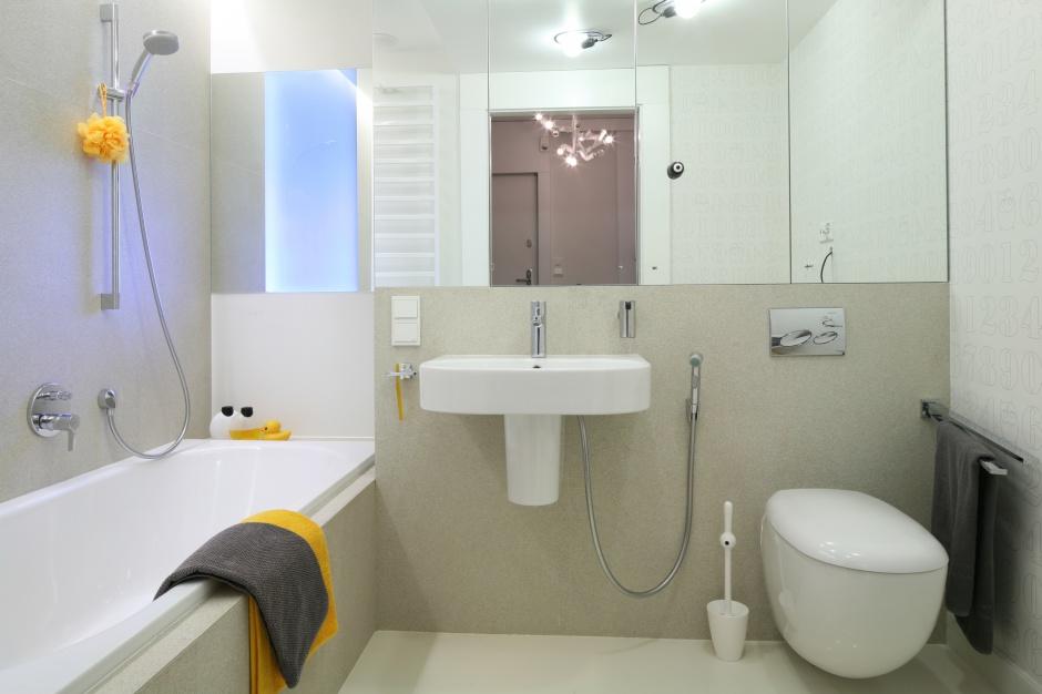 Inspirujemy - Mała łazienka z wanną – modne wnętrze dla ...