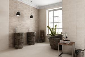Beżowe płytki – 12 najnowszych kolekcji do łazienki
