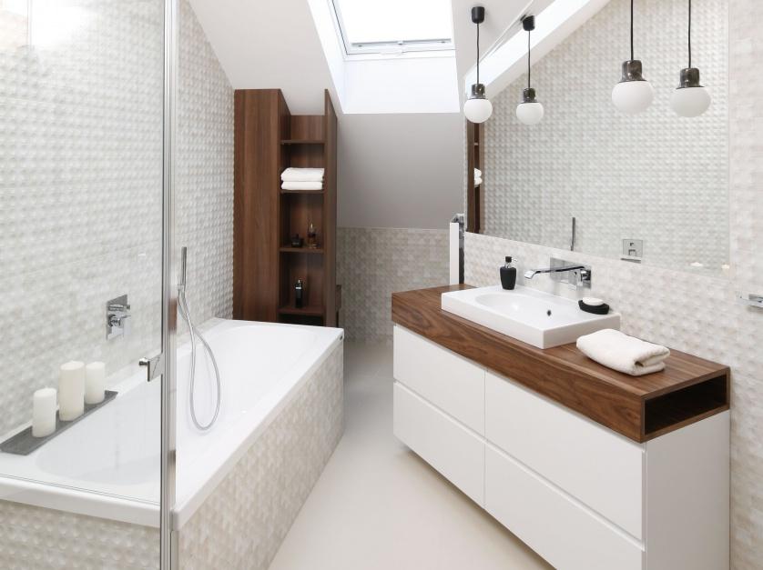 Inspirujemy Nowoczesna łazienka 10 Projektów W Bieli I