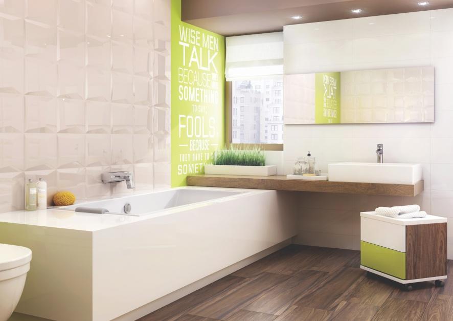 Aranżujemy Płytki Z Dekorami Pomysły Na ścianę łazienki