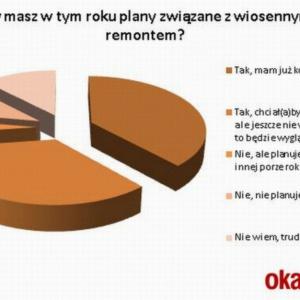 Raport: 38% Polaków zdecydowanych na wiosenny remont