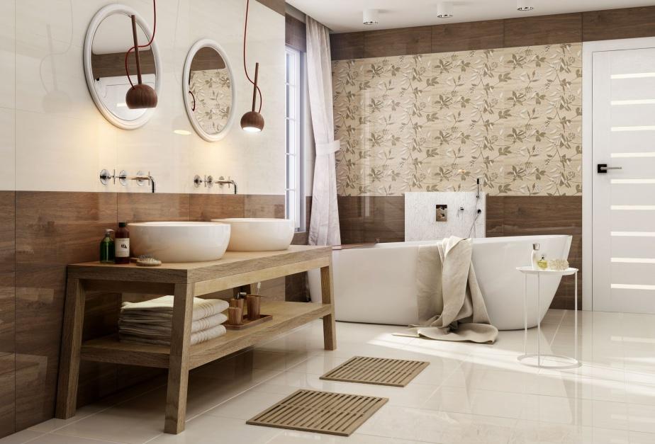 Beżowe płytki – modne kolekcje do łazienki