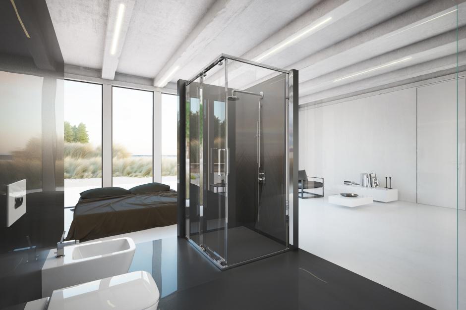 Kabiny prysznicowe – szkło z efektem szyby samochodowej