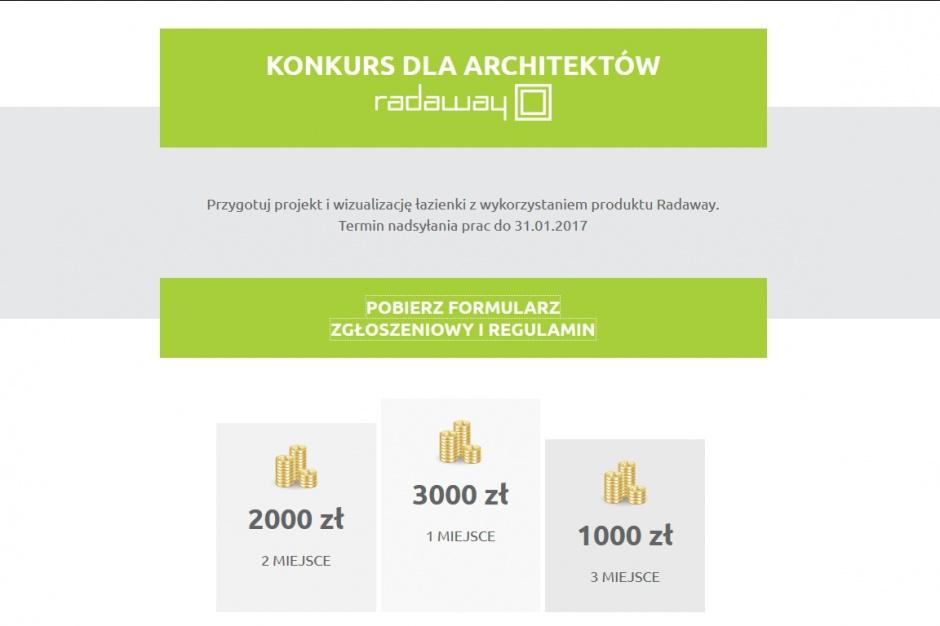 7,5 tys. zł do wygrania w konkursie Radaway