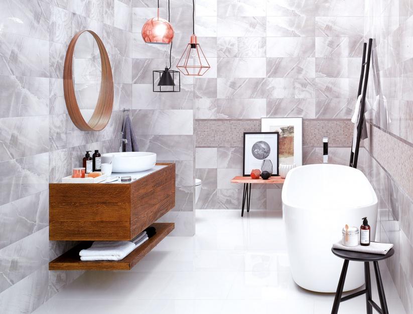 Płytki jak kamień - portugalskie inspiracje w łazience