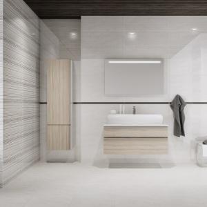 Jasna łazienka – płytki z lustrzanymi drobinkami
