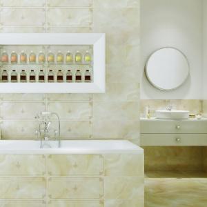 Beżowe płytki – 15 pomysłów do małych łazienek
