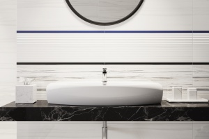 Jak malowane pędzlem – nowe płytki do łazienki