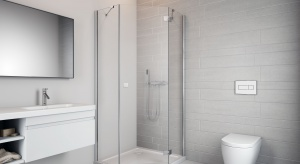 Do małej łazienki – nowa pięciokątna kabina prysznicowa