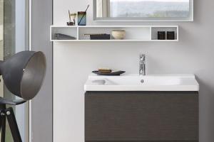 Meble łazienkowe – nowa seria o geometrycznej linii