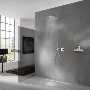 Nowoczesna armatura - minimalistyczny design pod prysznicem