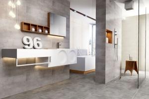 Łazienka w stylu loft: wybierz modne płytki