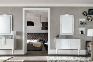 Meble łazienkowe: kolekcja z pięknymi dekorami