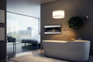 Kominek w łazience: prosty sposób na modne wnętrze