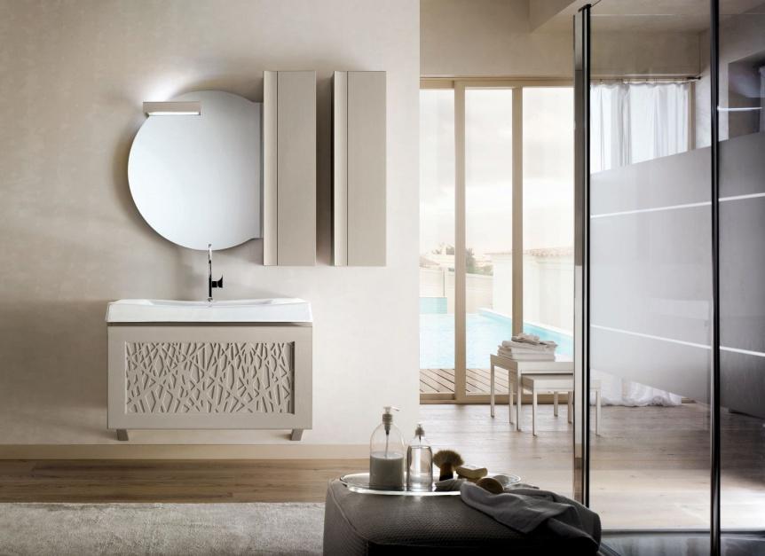 Trendy łazienkowe: romantyczne koronki