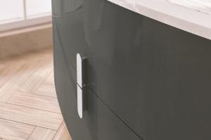 Modne meble do łazienki: kolekcja z miękkimi krawędziami