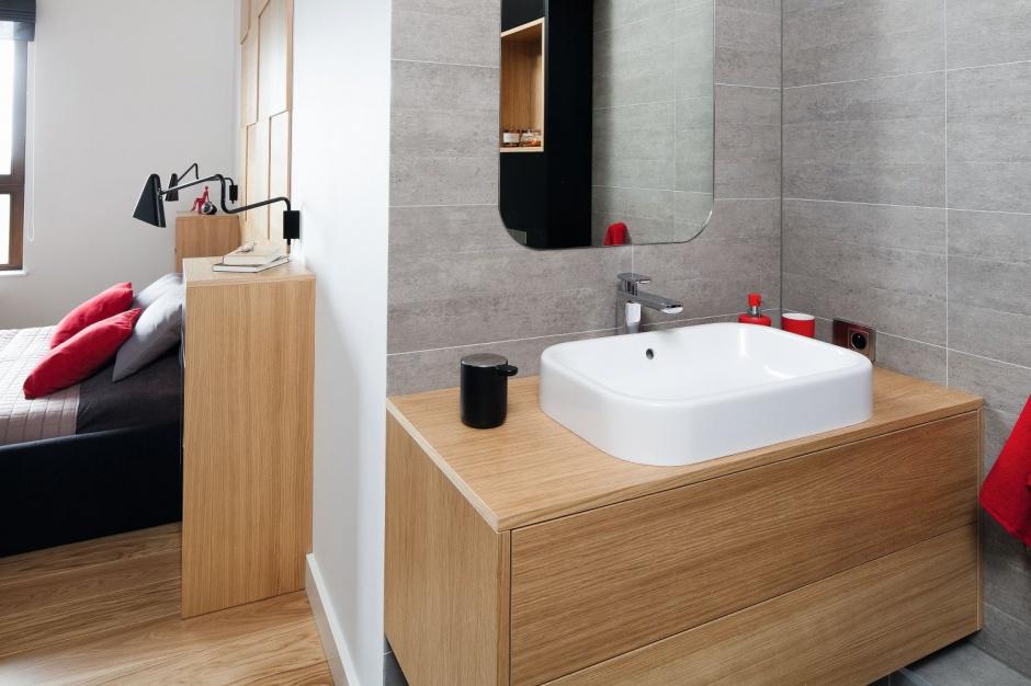 Inspirujemy Szara łazienka W Bloku Gotowy Projekt Małego