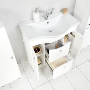 Meble łazienkowe: nowość z motywem fali na frontach
