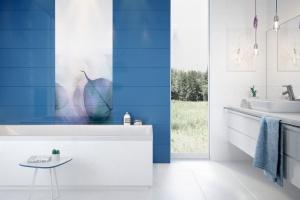 Duże dekory ceramiczne - tak ozdobisz łazienkę