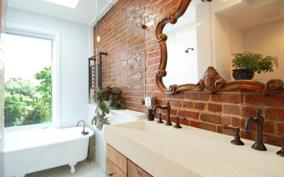 Praktyczna łazienka: umywalki z konglomeratu
