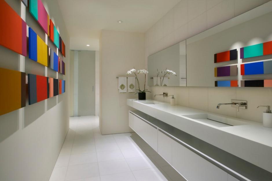 Materiały do łazienki: konglomerat kwarcowy