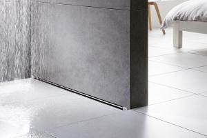 Nowoczesna łazienka: dizajnerski odpływ ścienny
