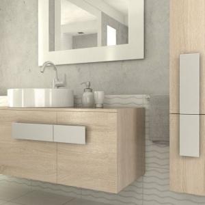 Meble w jasnym kolorze drewna: nowoczesna kolekcja do łazienek
