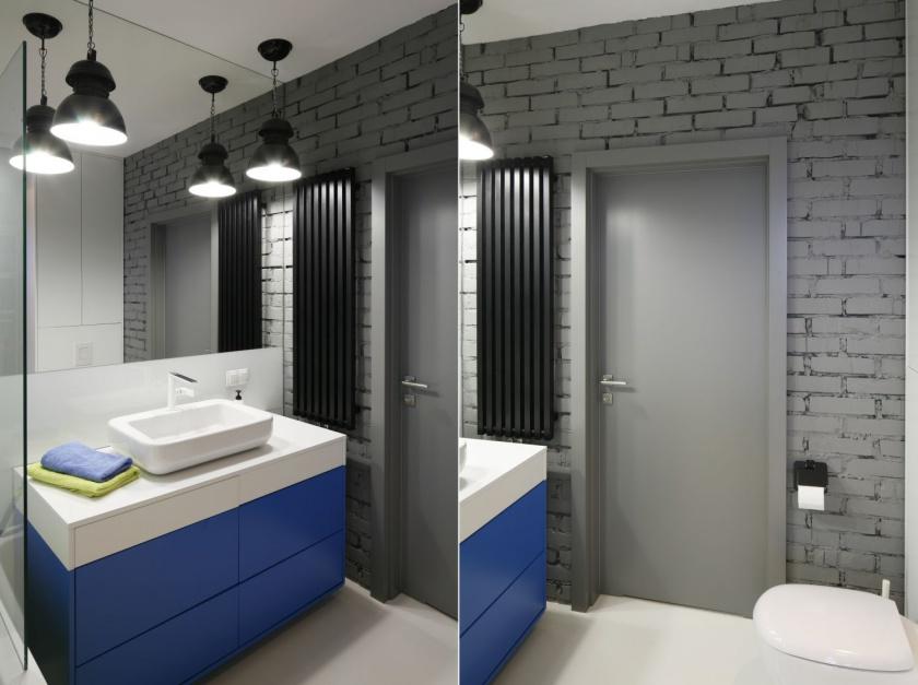 Cegła w łazience: 10 pięknych zdjęć