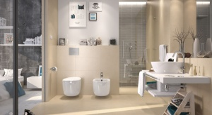 Beżowa łazienka: 5 pomysłów na płytki ceramiczne