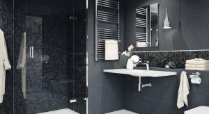 Łazienka w ciemnych kolorach - gotowy pomysł na aranżację